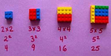 multiplicación con lego