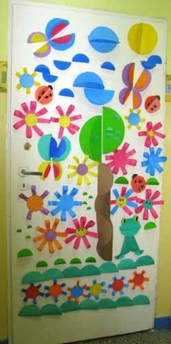 Ideas para decorar las puertas de nuestra clase for Puertas escolares decoradas