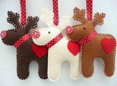 Adornos navideños con fieltro1