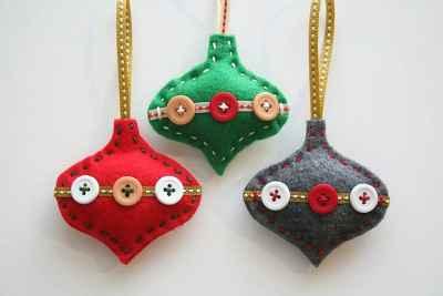 Adornos navideños con fieltro2