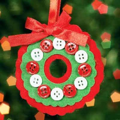 Adornos navideños con fieltro3