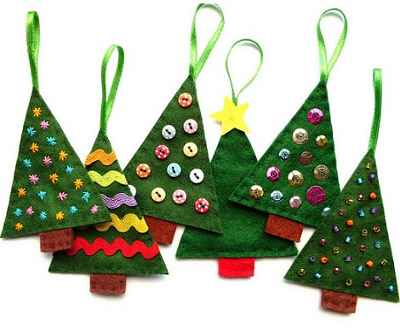 Adornos navideños con fieltro4