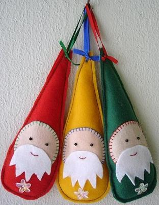 Adornos navideños con fieltro7
