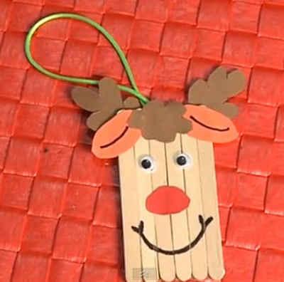 Motivos decorativos para navidad con palos de polo - Adornos de navidad manualidades para ninos ...