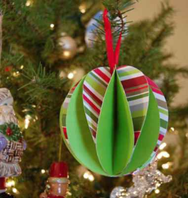 Adornos navideños con papel4