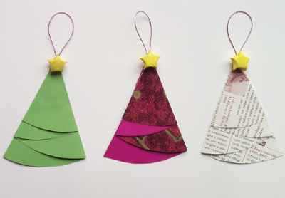 Adornos navideños con papel6