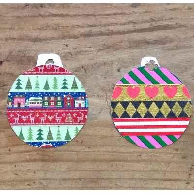 Adornos navideños con papel7