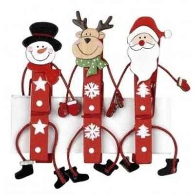 Adornos navideños con pinzas1