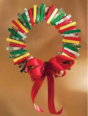 Adornos navideños con pinzas6