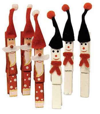 Adornos navideños con pinzas7