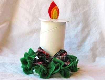 Adornos navideños con rollos de papel4