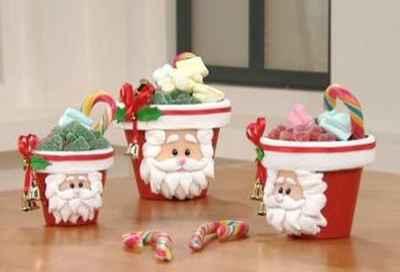 Manualidades navideñas con macetas1
