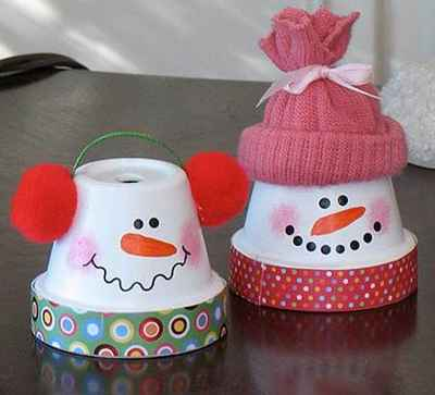 Manualidades navideñas con macetas4