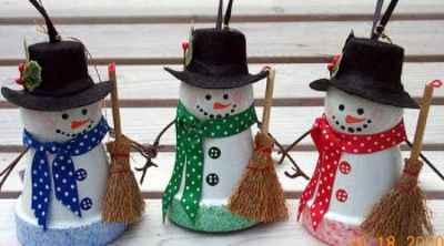 Manualidades navideñas con macetas5