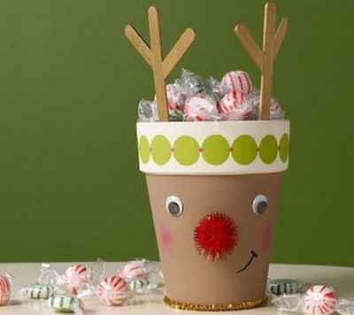 Manualidades navideñas con macetas6
