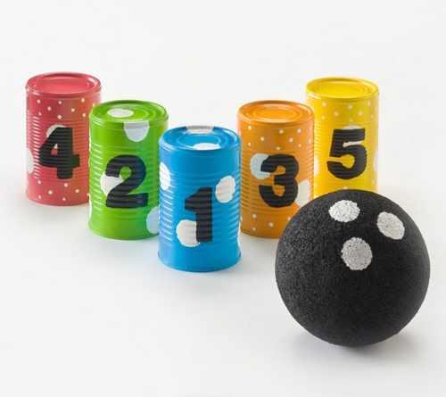 Divertidos juegos para trabajar la motricidad con los niños hechos con material reciclado